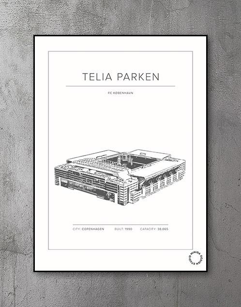 Fodboldstadion FCK Plakat - Telia Parken - FC København