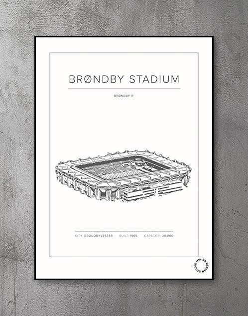 Plakat - Brøndby Stadium - Brøndby IF