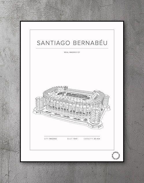 Foldboldstadion plakat Santiago Bernabeu Real Madrid