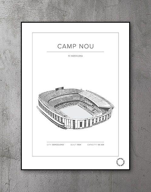 Plakat - Camp Nou - FC Barcelona