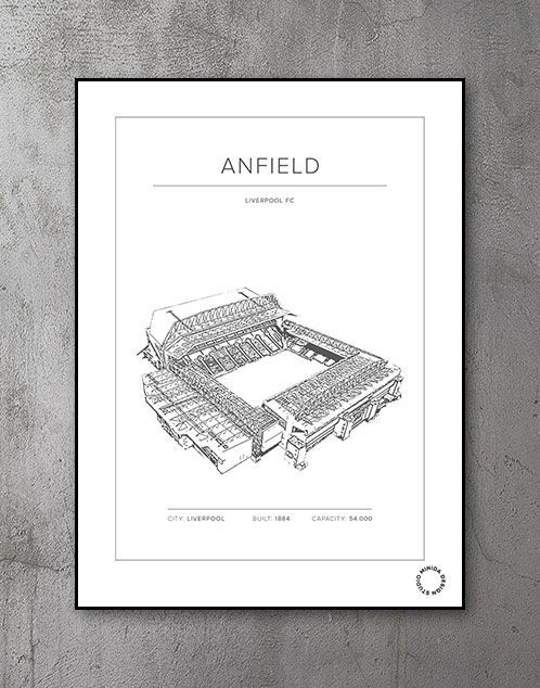 Plakat - Anfield - Liverpool FC