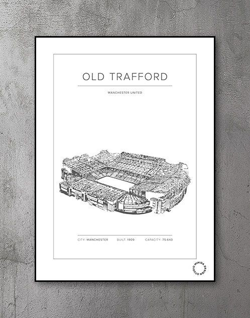 Plakat - Old Trafford - Manchester United