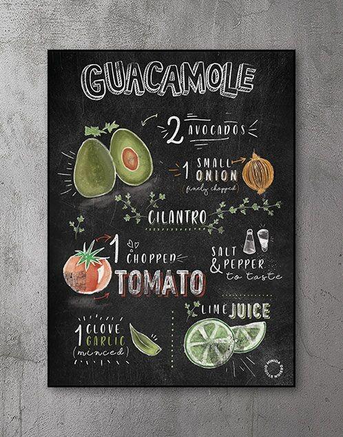 Plakater til køkken