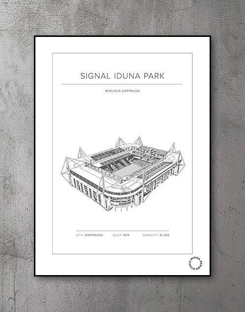 Plakat - Signal Iduna Park - Borussia Dortmund