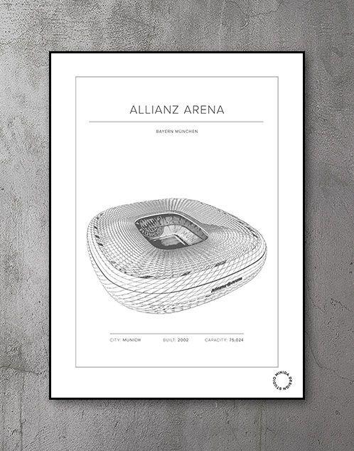 Plakat - Allianz Arena - Bayern München