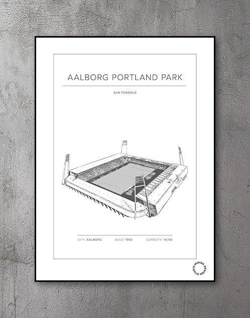 Plakat - Aalborg Portland Park - Aab Fodbold