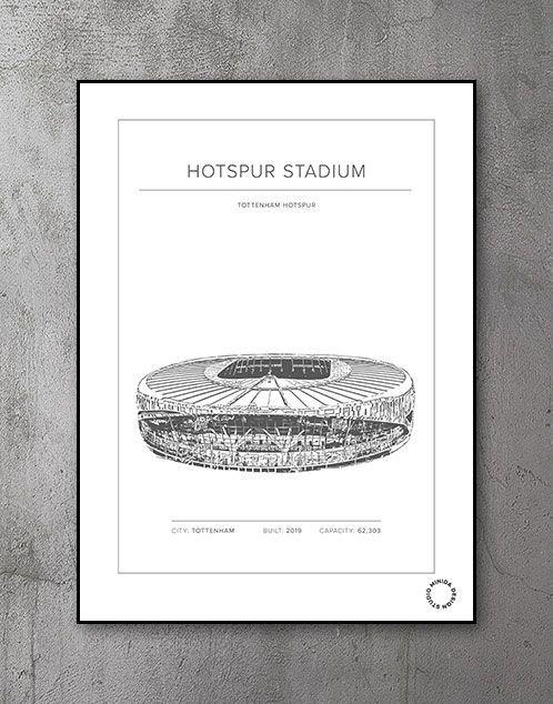 Plakat - Hotspur Stadium - Tottenham Hotspur