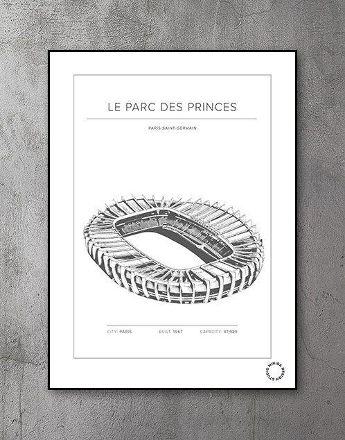 Plakat - Le Parc Des Princes - Paris Saint-Germain