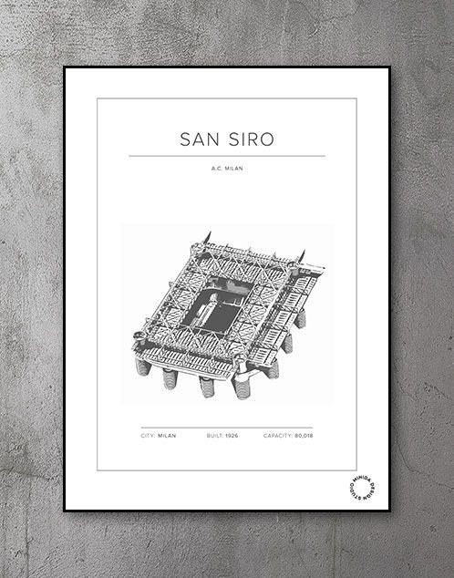 Plakat - San Siro - A. C. Milan