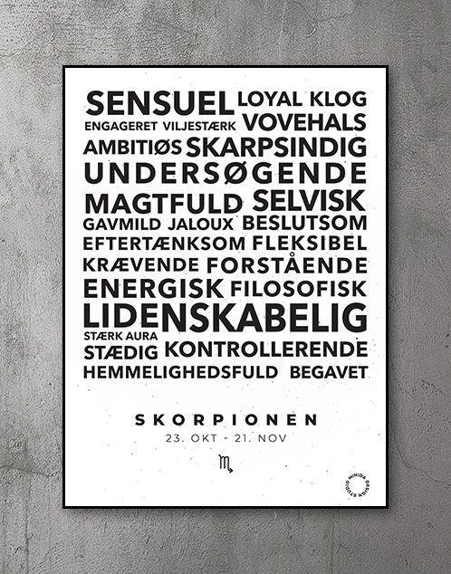 Citatplakat stjernetegn Skorpionen