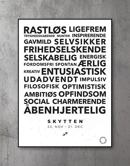 Citatplakat stjernetegn Skytten