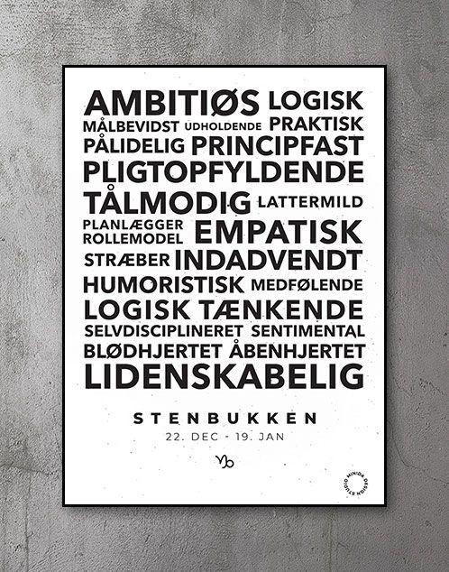 Citatplakat stjernetegn Stenbukken