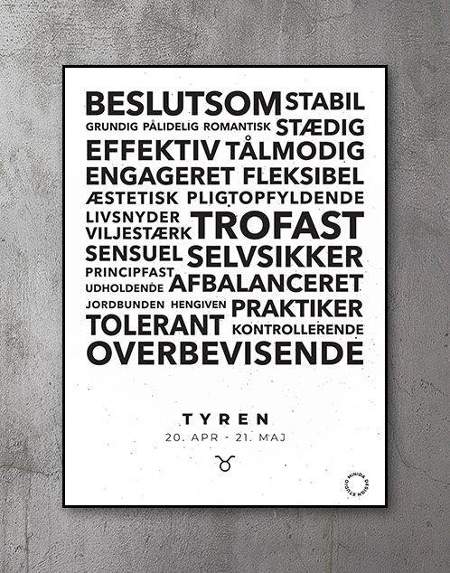 Citatplakat stjernetegn Tyren