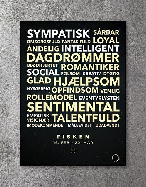 Citatplakat stjernetegn Plakat Fisken