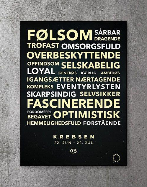 Citatplakat stjernetegn Plakat Jomfruen