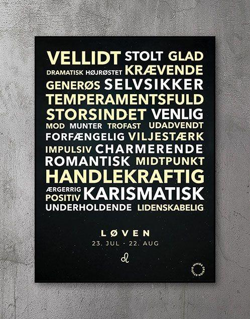 Citatplakat stjernetegn Plakat Løven