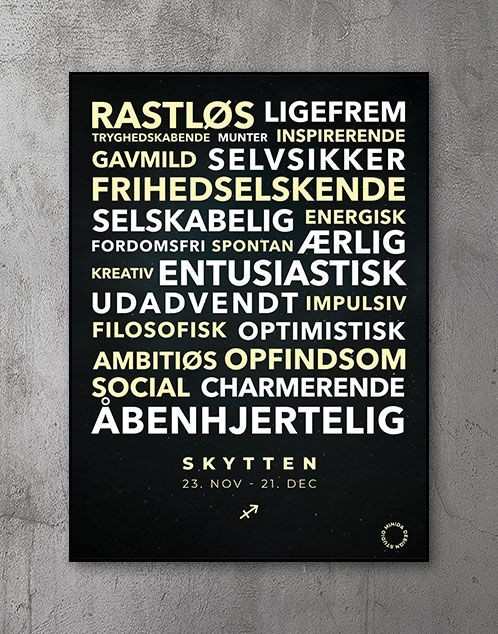 Citatplakat stjernetegn Plakat Skytten