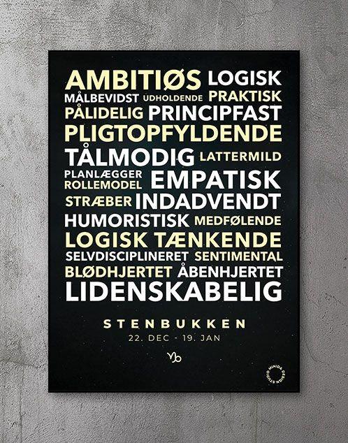 Citatplakat stjernetegn Plakat Stenbukken