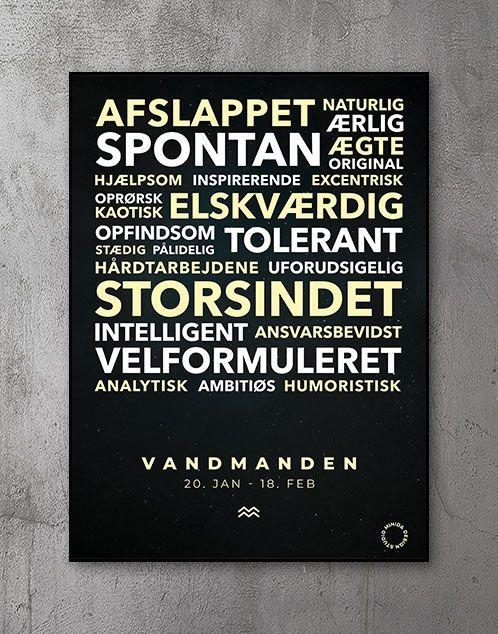Citatplakat stjernetegn Plakat Vandmanden