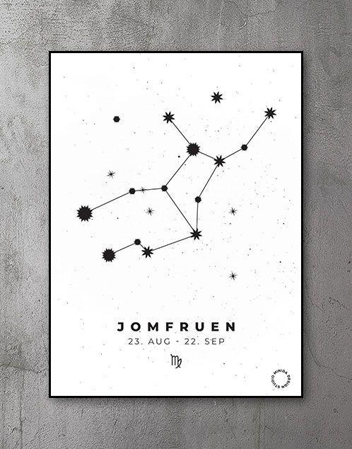 Stjernetegn Plakat Jomfruen