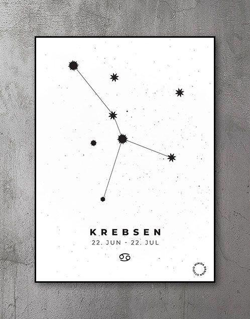 Stjernetegn Plakat Krebsen