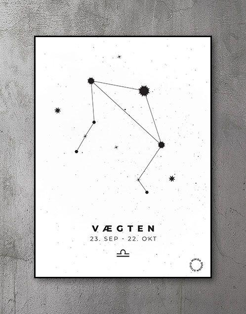 Stjernetegn Plakat Vægten