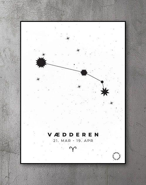 Stjernetegn Plakat Vædderen