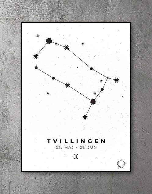 Stjernetegn Plakat Tvillingen