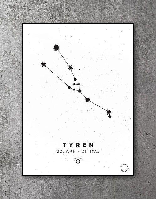 Stjernetegn Plakat Tyren