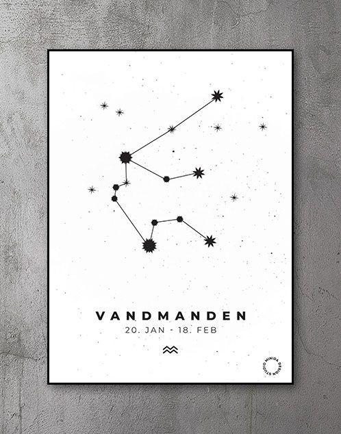 Stjernetegn Plakat Vandmanden