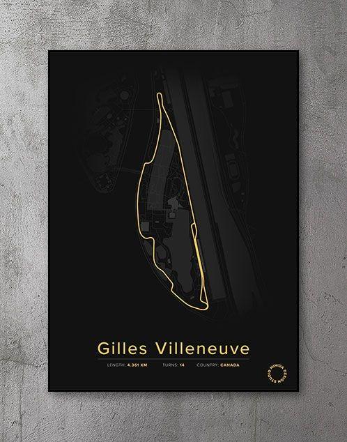 Gilles Villeneuve Plakat