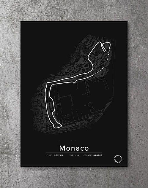 Monaco racerbane Plakat
