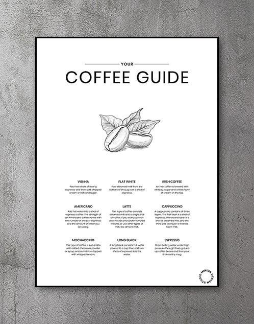 Kaffe Coffee guide plakat