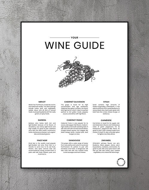 Plakat Wine Guide