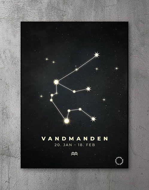 Plakat Stjernetegn vandmanden