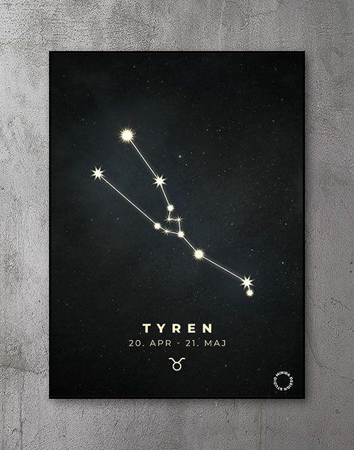 Plakat Stjernetegn tyren
