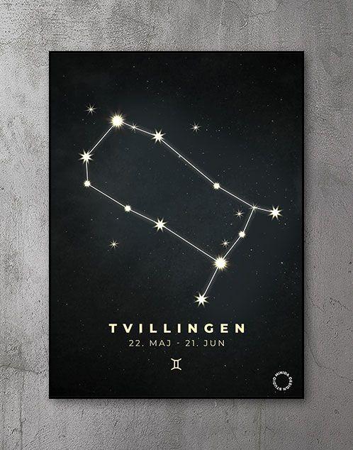 Plakat Stjernetegn tvillinger