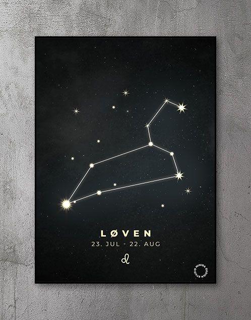 Plakat Stjernetegn løven