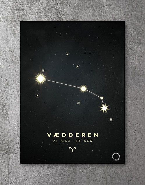 Plakat Stjernetegn vædderen