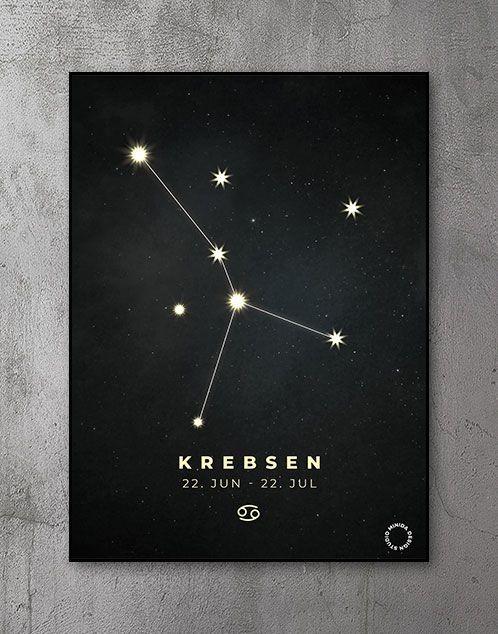 Plakat Stjernetegn krebsen