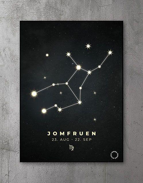 Plakat Stjernetegn jomfruen