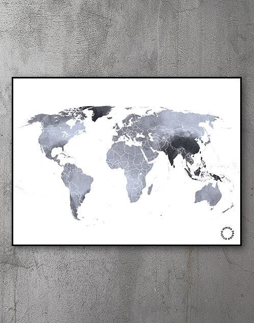 Verdenskort Plakater