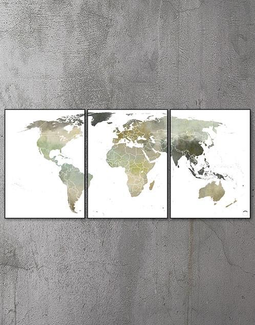Plakat med verdenskort 4