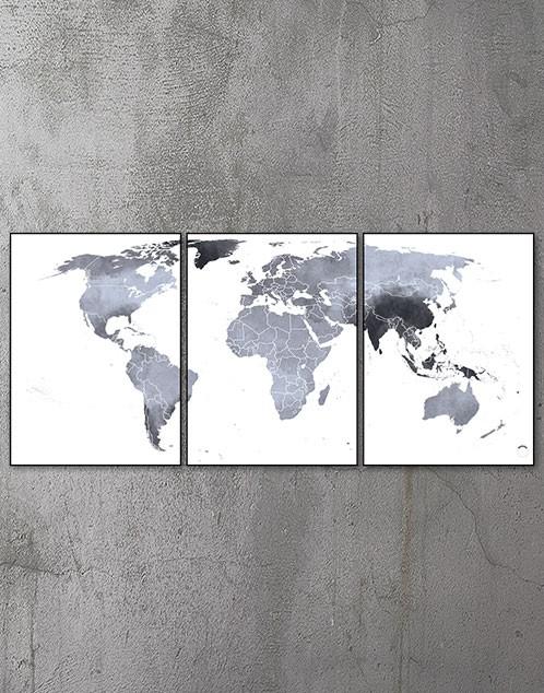 Plakat med verdenskort 3