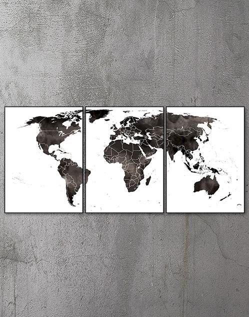 Plakat med verdenskort 1