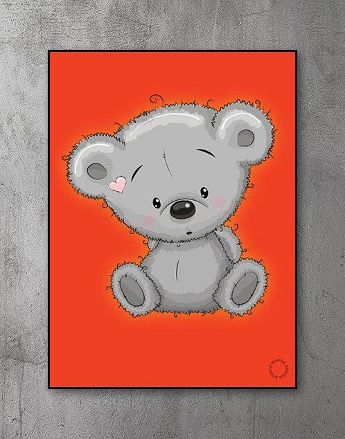 Børneplakater og plakater til børn - nuttede dyr