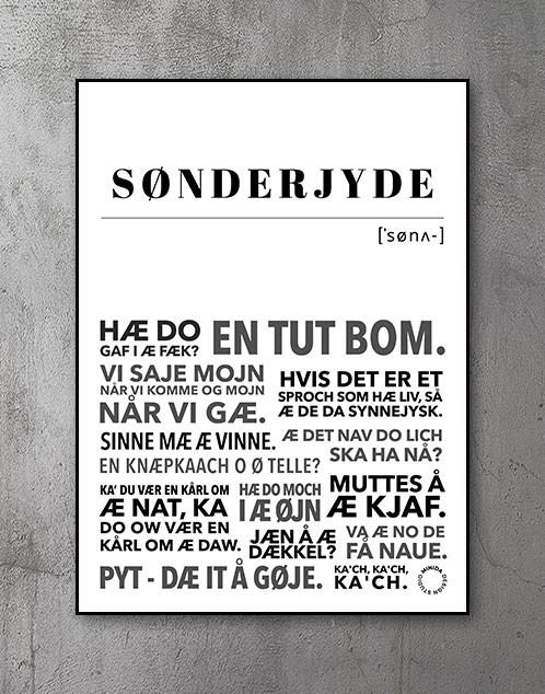 Sønderjyde Sønderjylland plakat
