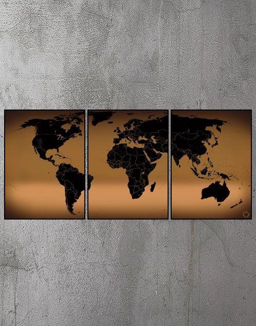 Plakater med verdenskort