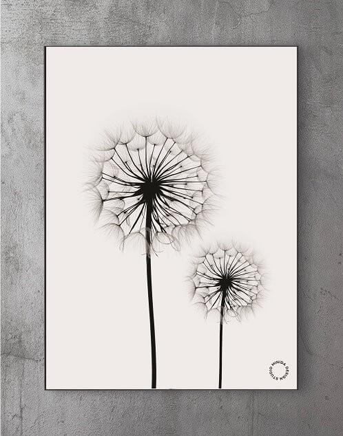 Billeder til stuen - dandelions