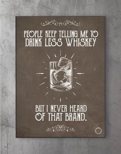 Plakater med citater - whiskey